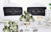 Maid Of Honor & Best Man Chair Sash Set